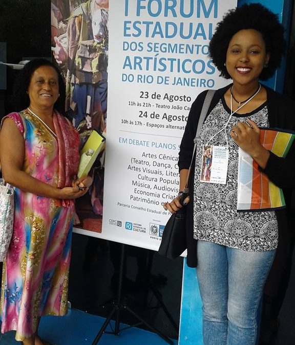 Museu de Favela participa do I Fórum Estadual dos Segmentos Artísticos do Rio de Janeiro.